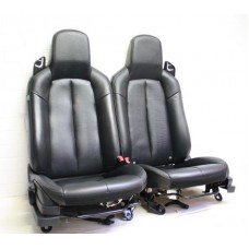 Mazda MX5 (Mk3) - Seats (with airbag) - black heated leather - fits 2005-2008