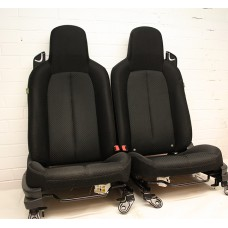 Mazda MX5 (Mk3) - Seats (with airbag) - black cloth - fits 2005-2008